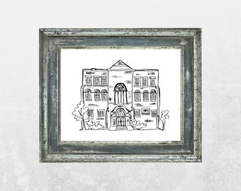 HOPE House Black Ink Print