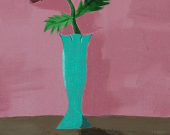 Tiny Rose Vase Print
