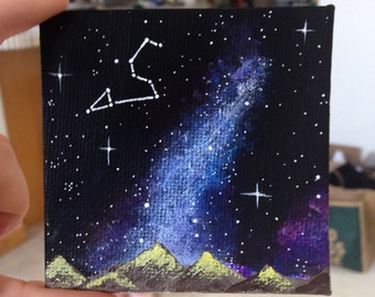 Mini Galaxy Leo Constellation Painting (Acrylic)
