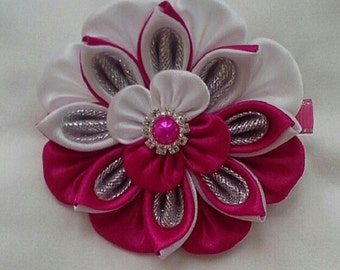 "Hair clip ""Сandy rose"""