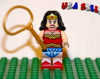 Wonder Woman Custom minifigure (Lego Compatible) DC Comic Justice League of America JLA Superhero Diana Rise of Justice Christmas Stocking 1