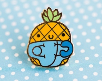 Baby pineapple enamel pin – cute enamel pin, pineapple accessories, pineapple pin