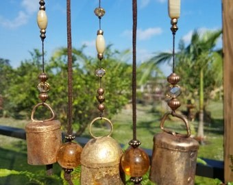 Wind Chime on Driftwood