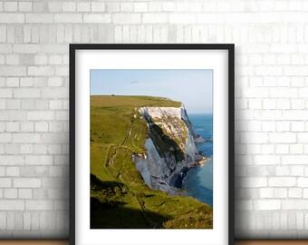 White Cliffs of Dover, Coast Photography, Coastal Print, England Photography, Cliffs, Wall Art, Decor 5x7, 8x10, 8x12, 11x14, 12x18, 16x20