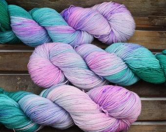 "SECONDS - Sock Yarn - ""Fae Lands"" - Merino / Nylon - Hand Dyed -  100g"