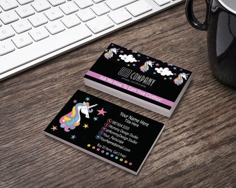 UNICORN Business Card - HO APPROVED Compliant Fonts/Colors - Bundles Available - Buy 10 - Punch Card -Scratch Offs -MuLaCash in the wild