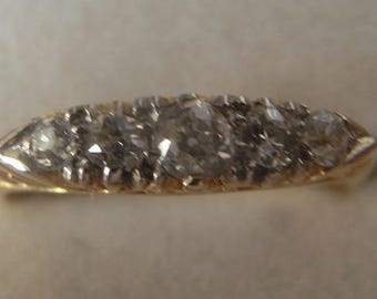 Lovely Antique Edwardian 5 Diamond Ring 18ct Yellow Gold