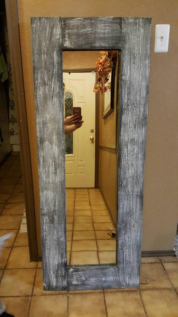 Rustic full length mirror
