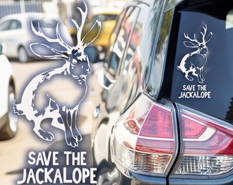 "FREE SHIPPING ""Save the Jackalope"" car or window decal"