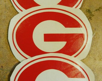 "Georgia Bulldogs 3"" Decal- UGA- Vinyl Decals"