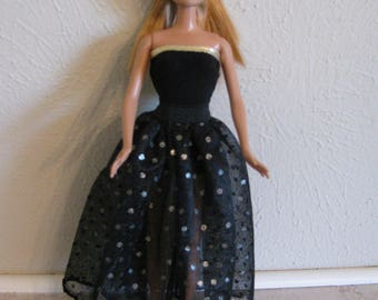 Barbie doll clothes-gold dots