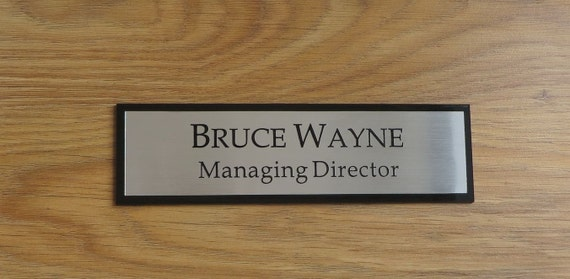 Executive Personalised Door Name Plate, Custom Engraved Sign, Office Plaque