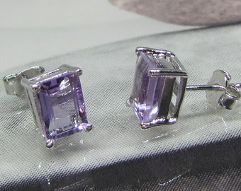 Earrings studs silver Amethyst purple. 25% with code: SOLD17
