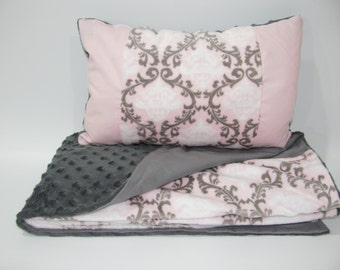 Set cover and cushion bed baby girl