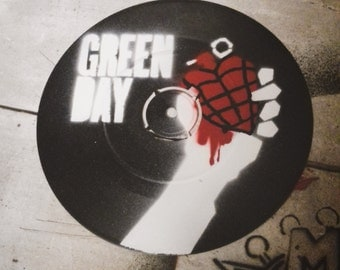 "Green Day - American Idiot - Custom 7"" EP Stencil Art"