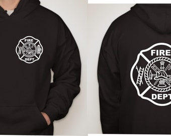 FIRE DEPT HOODIE (customized)