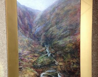 1920s Landscape Painting - Original Watercolour Painting - Scottish Landscape Art - VIntage Landscape Picture - Twenties Original Painting