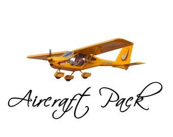 Aircraft PNG pack + bonus parachuter Digital File, Photo Manipulation