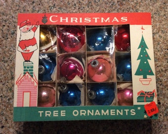 Mercury glass ornaments/12 piece