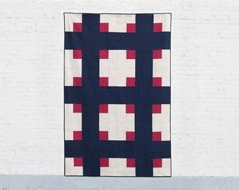 Cross Cabins PDF Quilt Pattern