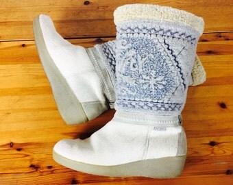 Vintage 80's Technica apres ski winter boots