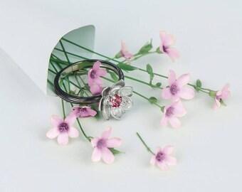Silver lotus ring, Silver lotus band, Yoga ring, Lotus flower band, Yoga jewelry, Yoga Lotus Jewelry, Lotus