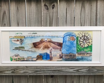 "Original - Watercolor painting - ""Gulf Coast Love"""