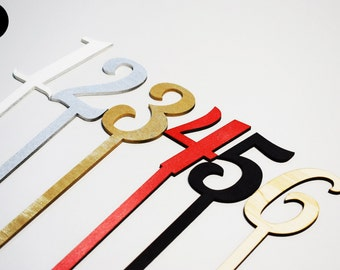 Wood table numbers - Wedding table numbers - table numbers - personalized table number - party table number - DIY table number decoration