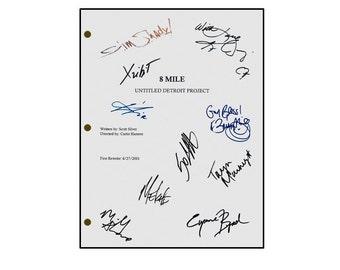 8 Eight Mile Signed Script - Eminem, Brittney Murphy, 50 Cent, Kim Basinger, Taryn Manning, Eugene Byrd, Michael Shannon, Mekhi Phifer
