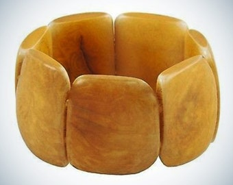 Polished Tagua Nut Bracelet Incan Sun