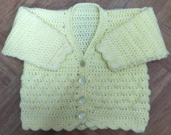PDF Instant Download Baby Crochet Cardigan Pattern in DK. Sizes Birth to 6 years (1002)