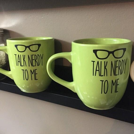 Talk Nerdy To Me Vinyl Mug Gift Her Custom Mugs Customized Gift  Mug Valentines Day Valentine Bookish Book Lover Gift
