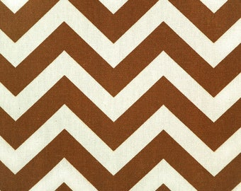 Zigzag Village Rust Natural Brown Chevron Fabric by the Yard - Ready to ship - Premier Prints