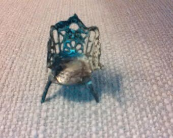 """Sterling toy chair, very ornate, 1"""""""