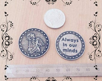 Always in our Minds Pewter Memorabilia Coin