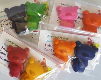 2 Pack Bear Gift Bag Crayons, Kids Party Favors, Party Gifts