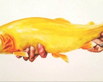 """18x 24 """"Catch and Release"""" Commission ON CANVAS"""