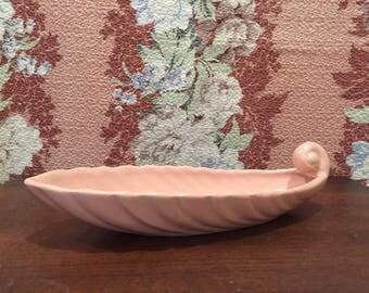 Franciscan Ware Coronado Swirl Coral Relish Dish / California Pottery