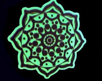 Temporary tattoo Phosphrescent Mandala