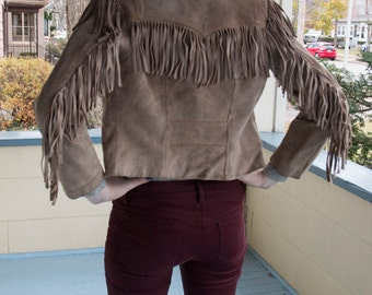 Suede Fringe Leather Jacket
