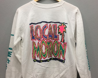 Vintage Hawaii Local Motion Sweatshirt Long Sleeve Multicolor Logo Medium Size