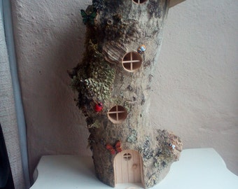 Wooden fairy house