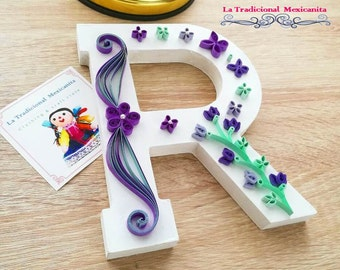 Wood paper quilling letter (Individual)
