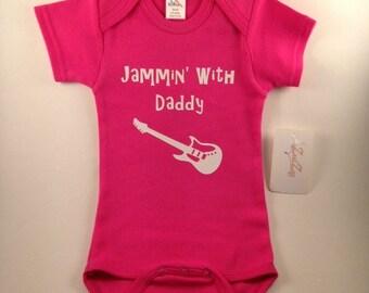 Music Baby Clothes - Music Onesie - Custom Baby Clothes - Guitar Onesie - Rocker Onesie - Instrument Onesie - Personalized Jammin' Design