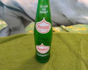 Rare Antique Sun Drop Glass 9oz Bottle