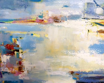 Original abstract oil painting on canvas:passion 186