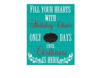 Christmas Countdown svg png dxf pdf christmas holiday digital file