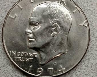 1974 Eisenhower One Dollar Coin