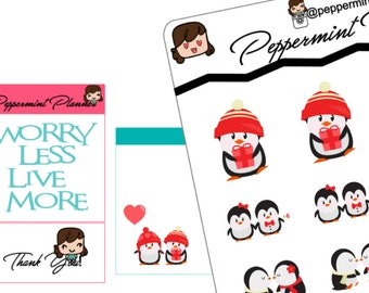 Penguin Love Planner Stickers, {#90}