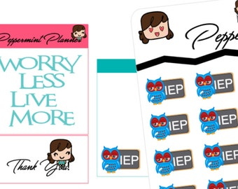 Special Ed Teachers IEP reminder Planner Stickers{#200}